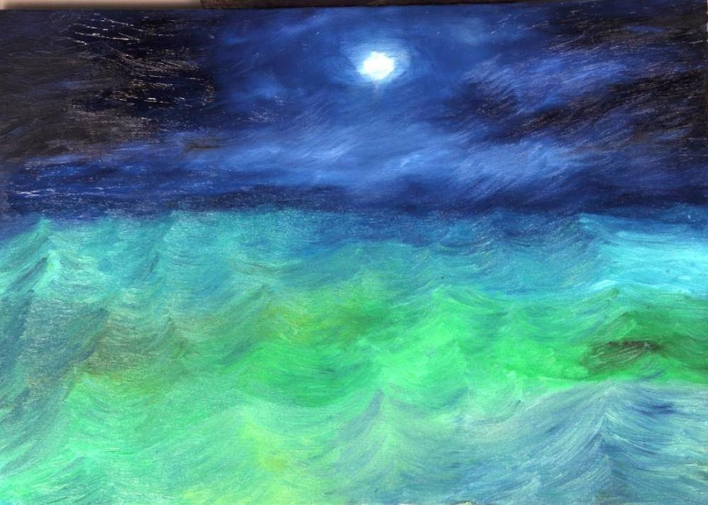 Moon 2, Original Paintings,