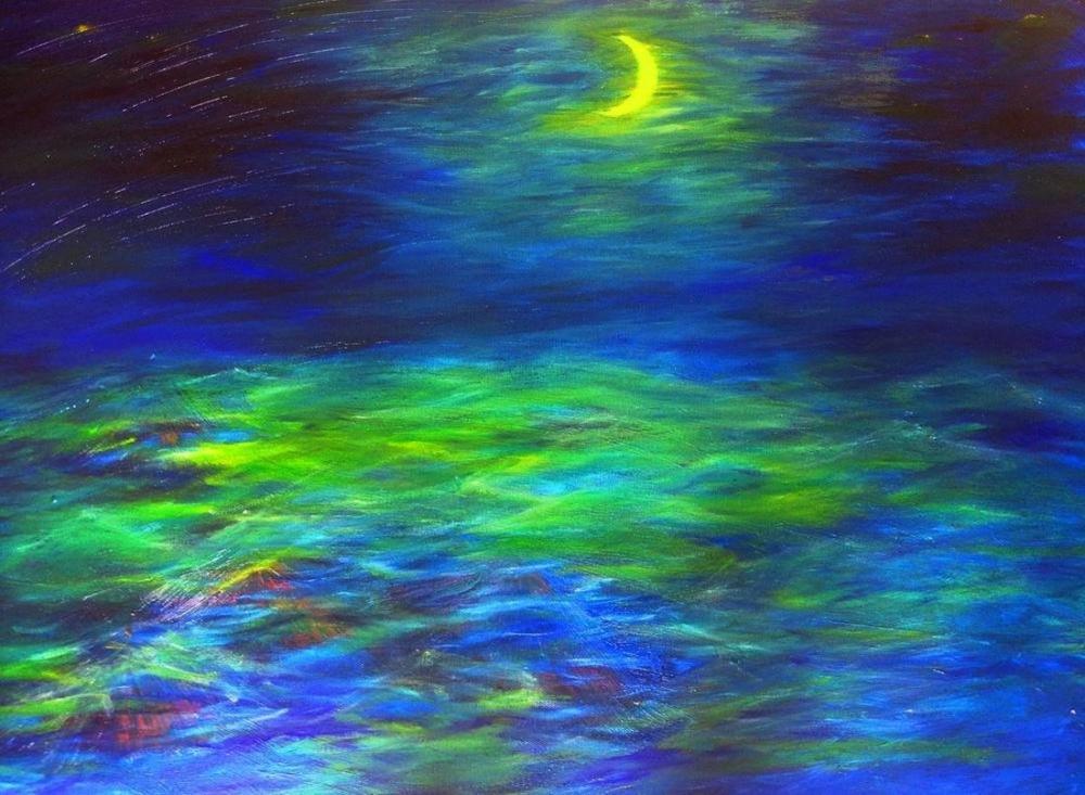 Moon 13, Original Paintings,