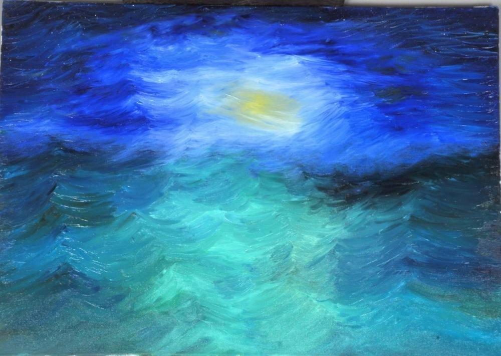 Moon 3, Original Paintings,