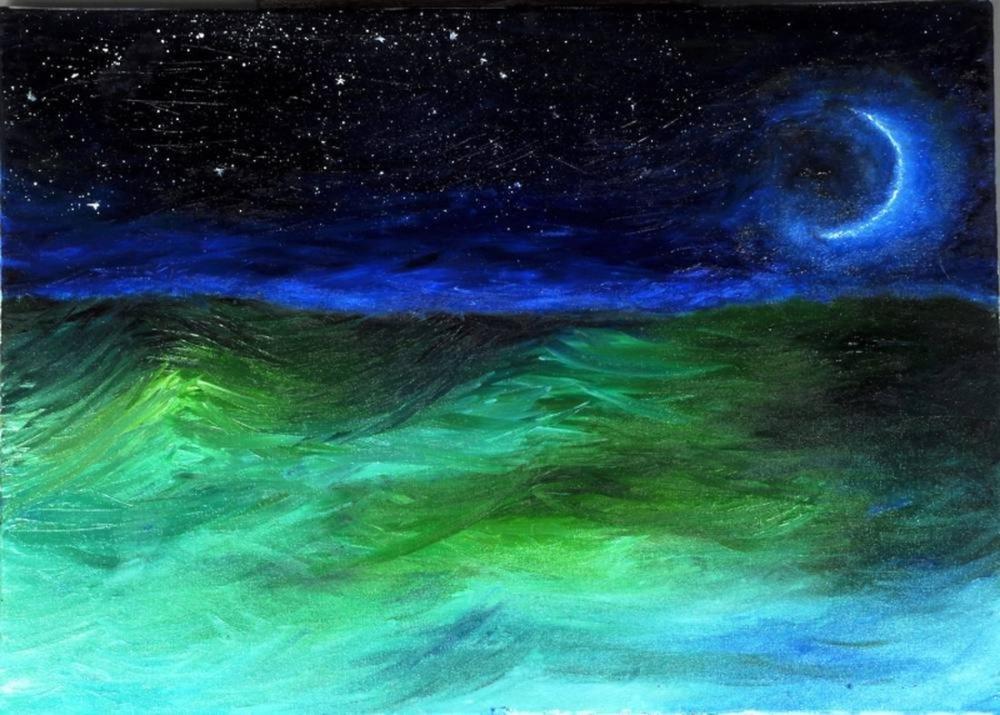 Moon 1, Original Paintings, , kanvas tablo, canvas print sales
