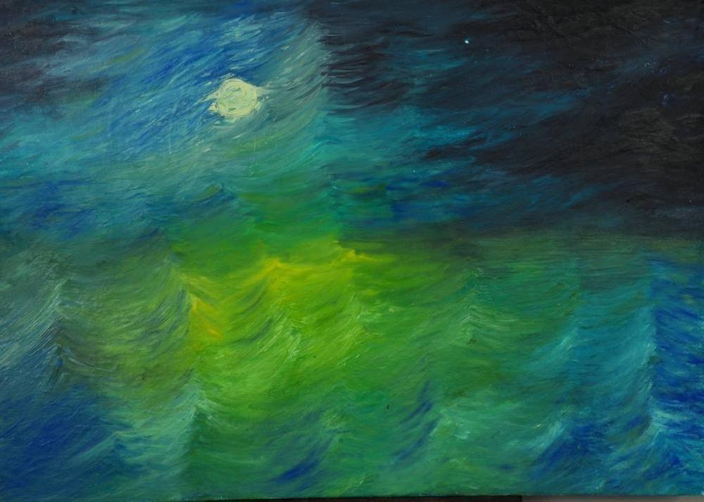 Moon 8, Original Paintings,