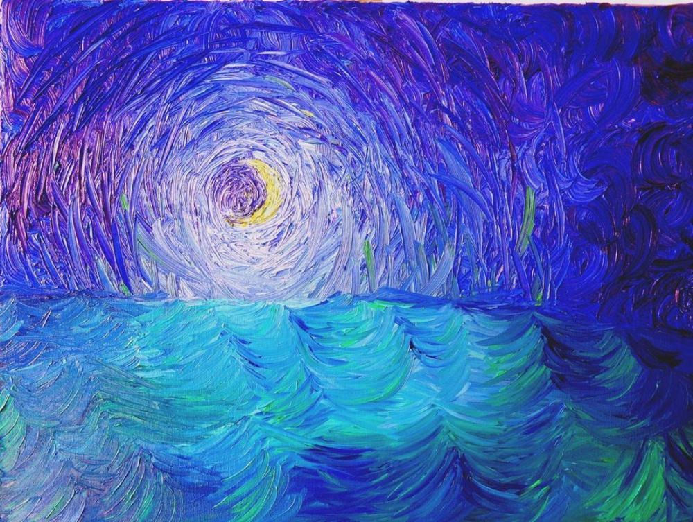 Ay 19, Orijinal Tablolar, , kanvas tablo, canvas print sales
