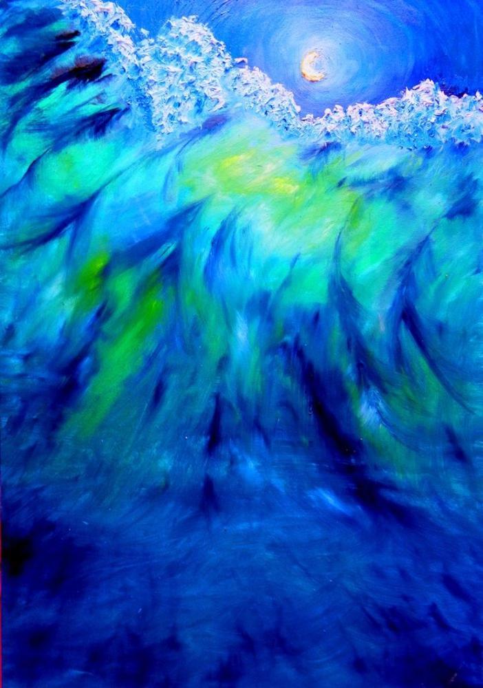 Moon 24, Original Paintings,