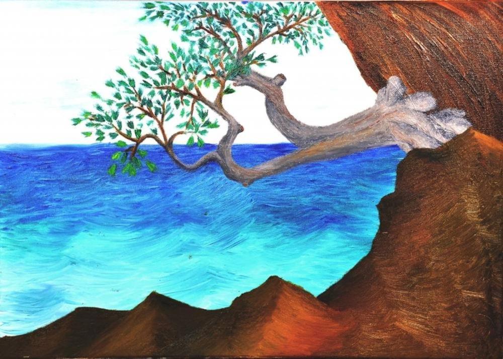 Ağaç -Yağlıboya tablo, Orijinal Tablolar, , kanvas tablo, canvas print sales