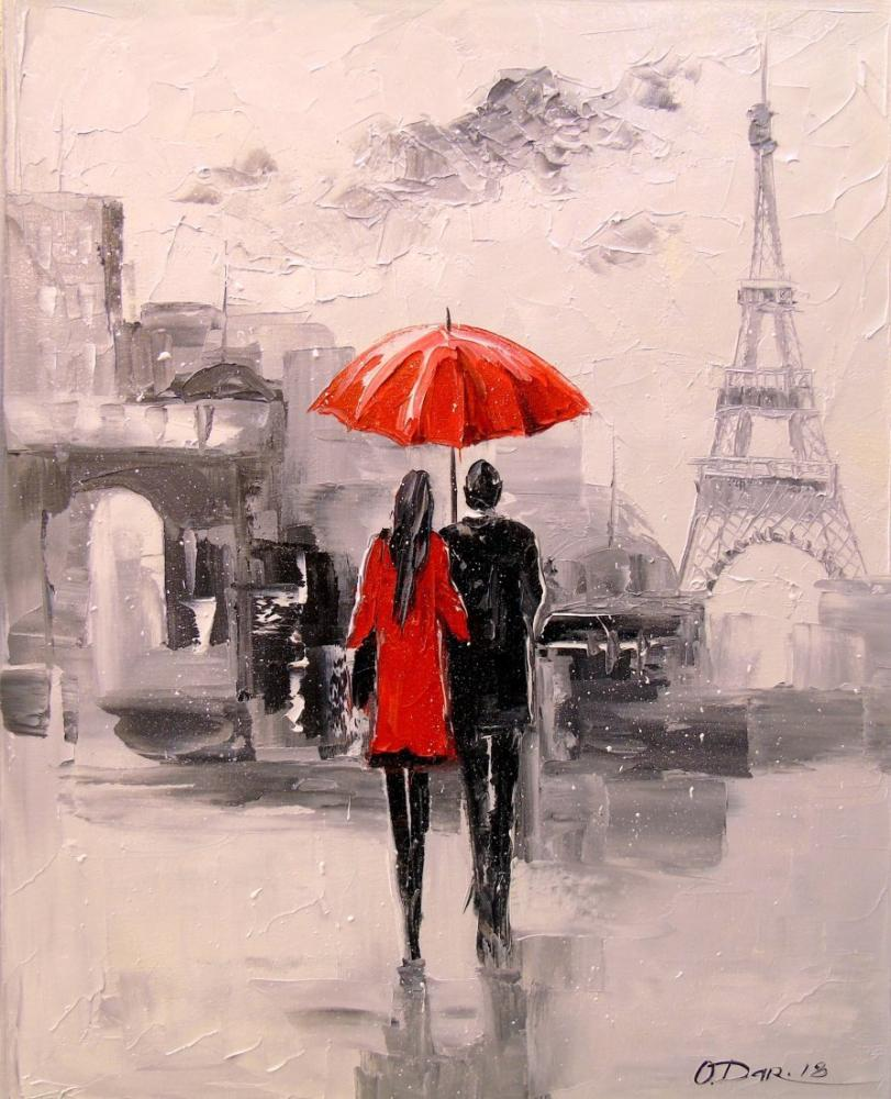 A walk through Paris, Original Paintings, , kanvas tablo, canvas print sales