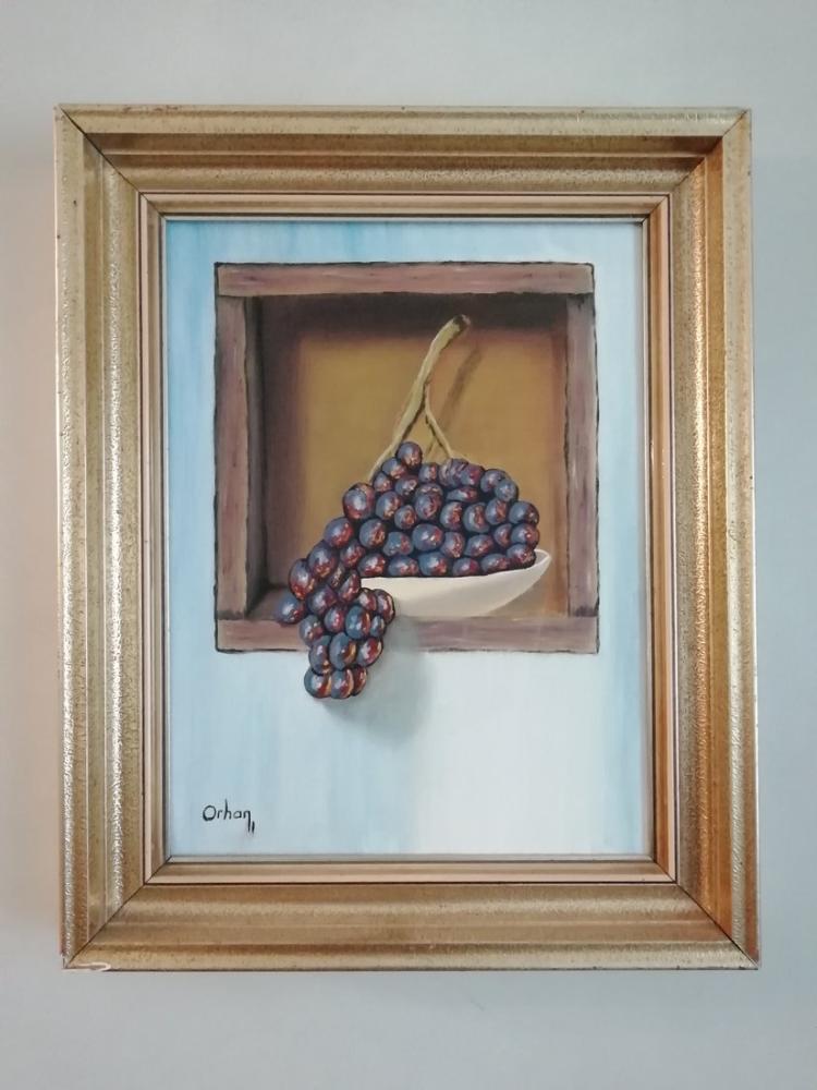 Üzüm, Orhan ÖZÇELİK, Orijinal Tablolar, , kanvas tablo, canvas print sales