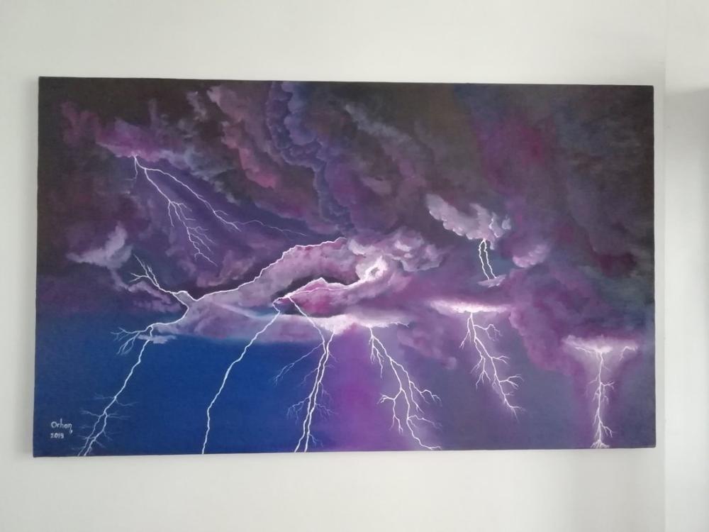 Dance of the Lightning, Original Paintings, , kanvas tablo, canvas print sales