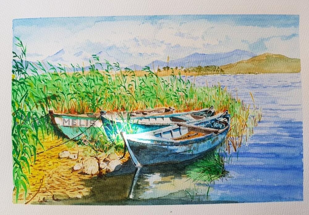 Boats 2, Original Paintings, , kanvas tablo, canvas print sales
