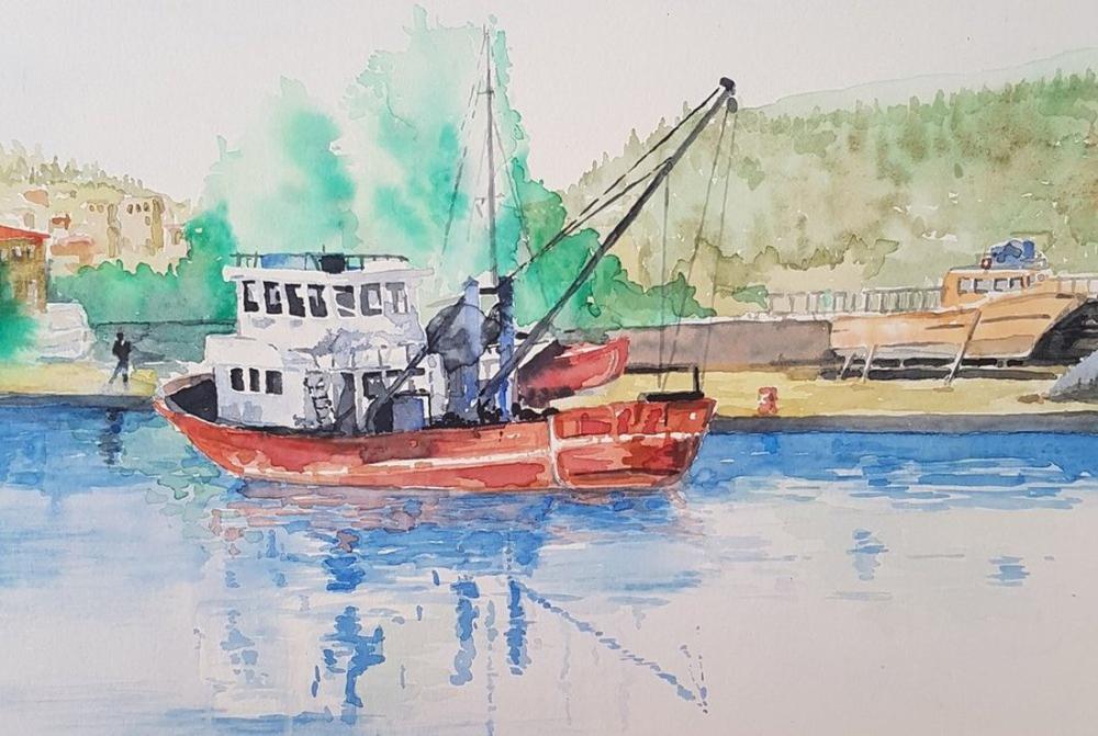 Harbor, Original Paintings, , kanvas tablo, canvas print sales