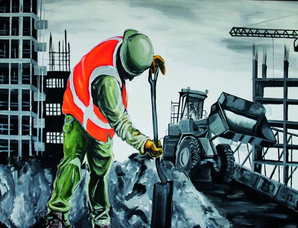 Building site, Original Paintings, , kanvas tablo, canvas print sales