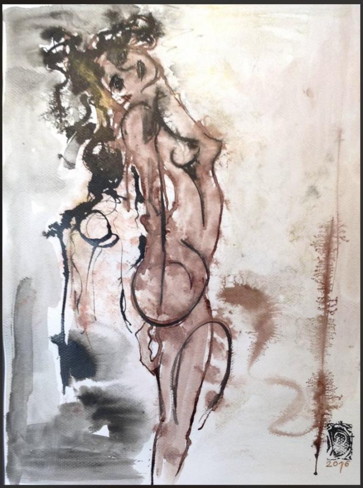 Abstract Nude 2, Original Paintings,