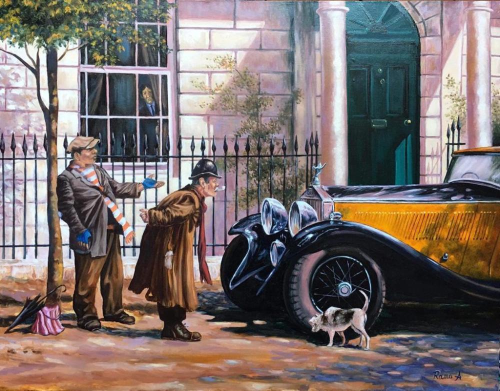 American Car, Original Paintings, , kanvas tablo, canvas print sales
