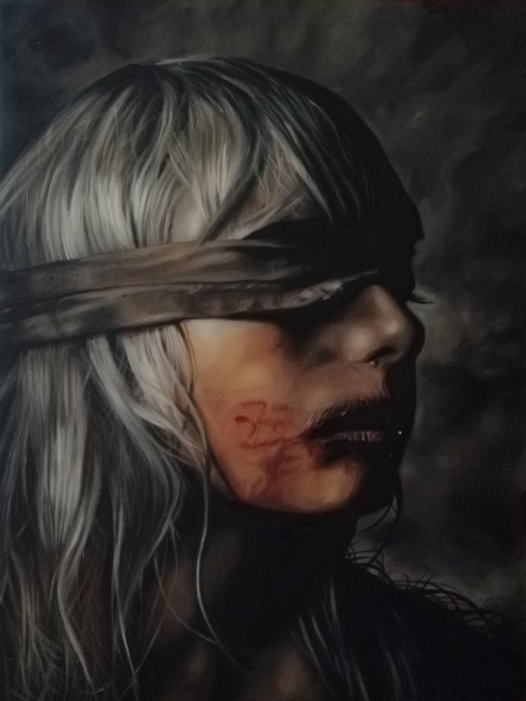 Women and Violence, Original Paintings, , kanvas tablo, canvas print sales