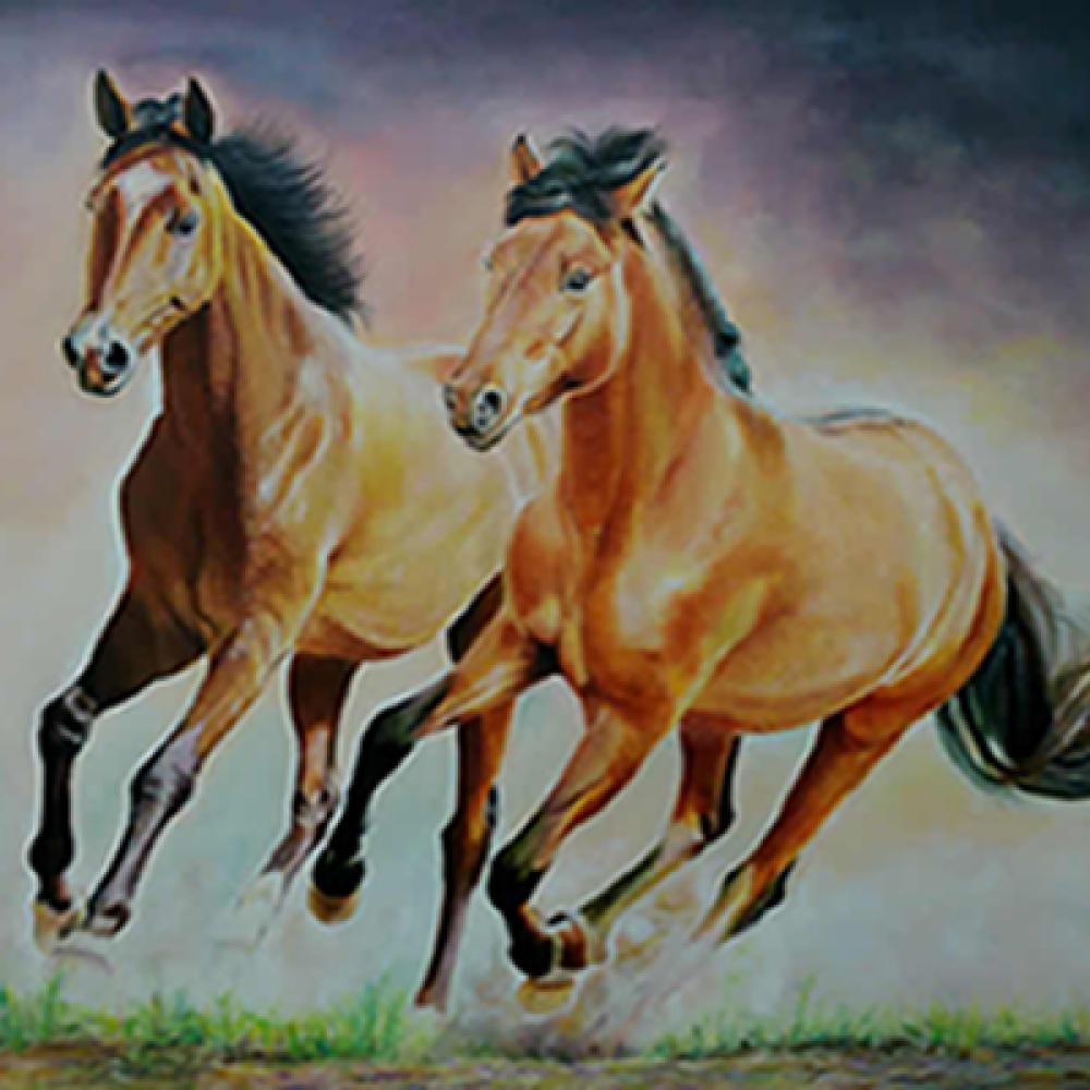 Atlar Koşarken, Orijinal Tablo,