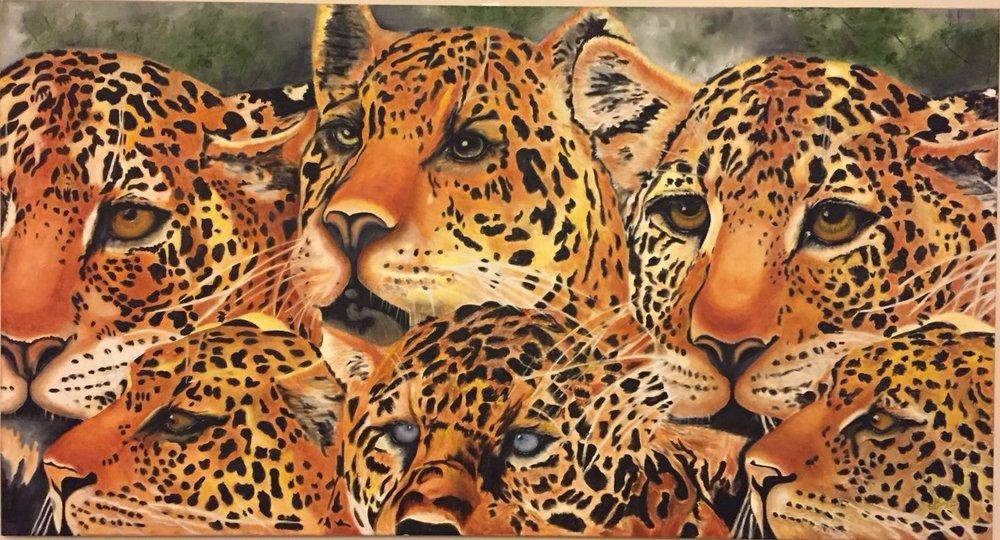 Lion Family, Original Paintings, , kanvas tablo, canvas print sales
