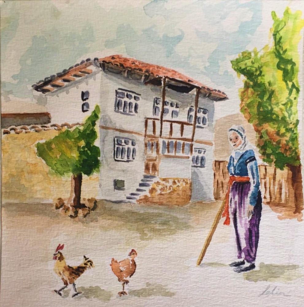 Authentic Village, Original Paintings, , kanvas tablo, canvas print sales