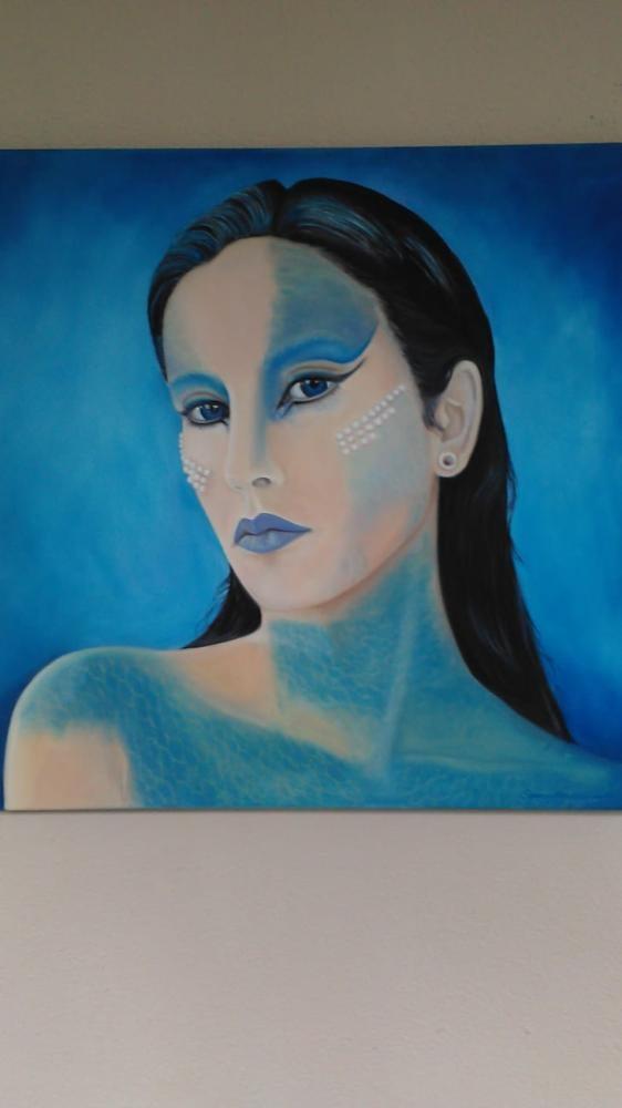 Blue Girl, Original Paintings,