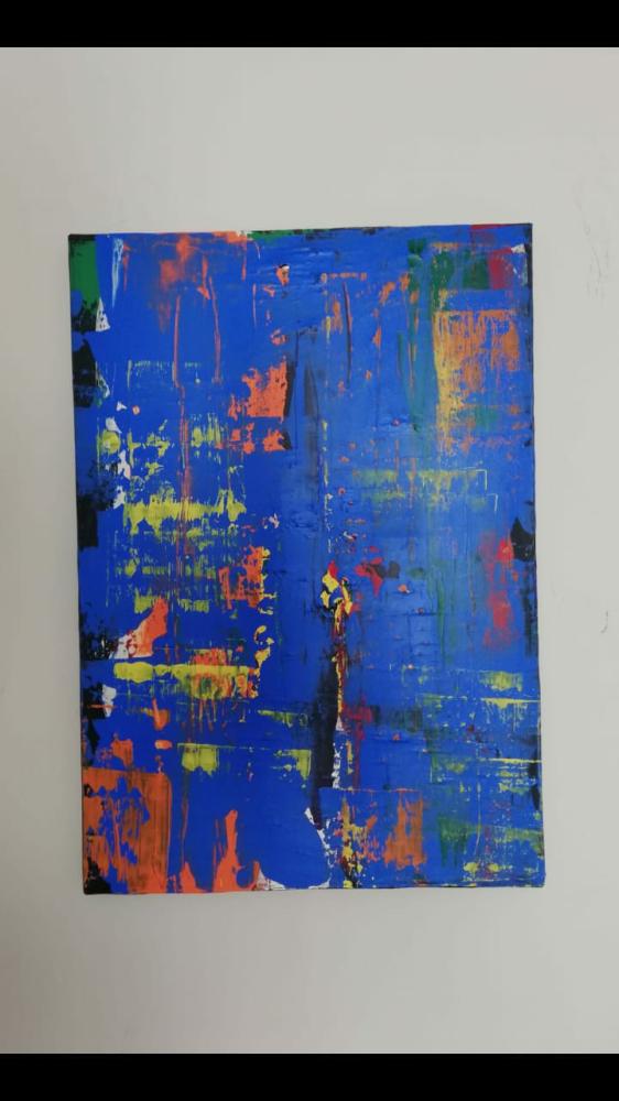 Aşk 6 tuval üzerine acrilic abstract, Orijinal Tablo,