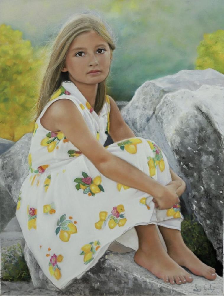 Little girl Serra, Original Paintings, , kanvas tablo, canvas print sales