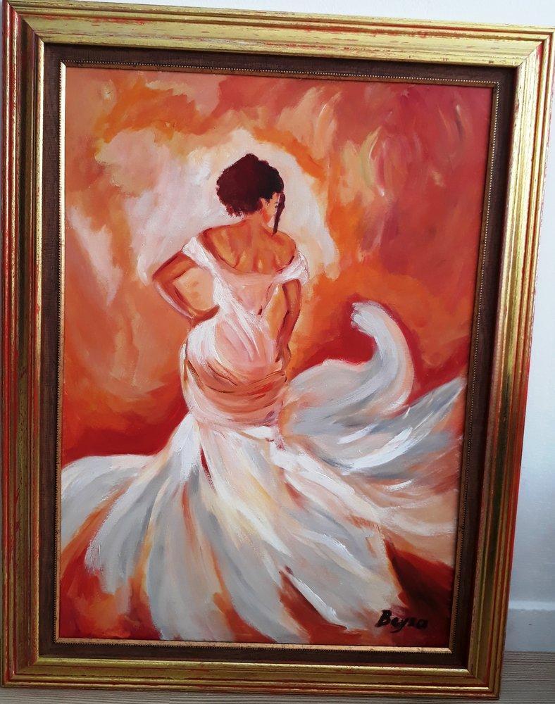 Dancer woman, Original Paintings, , kanvas tablo, canvas print sales