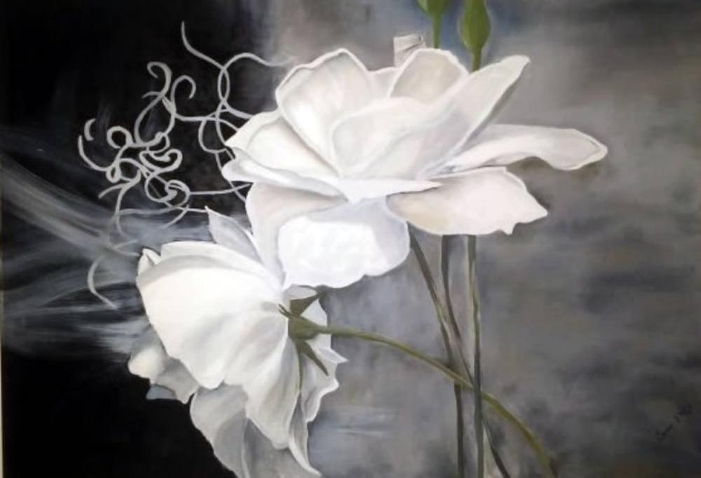 Beyaz Güller, Sevim Ekici, Orijinal Tablo,