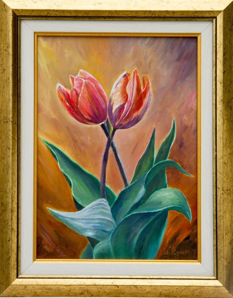Sunrise Tulips, Original Paintings, , kanvas tablo, canvas print sales