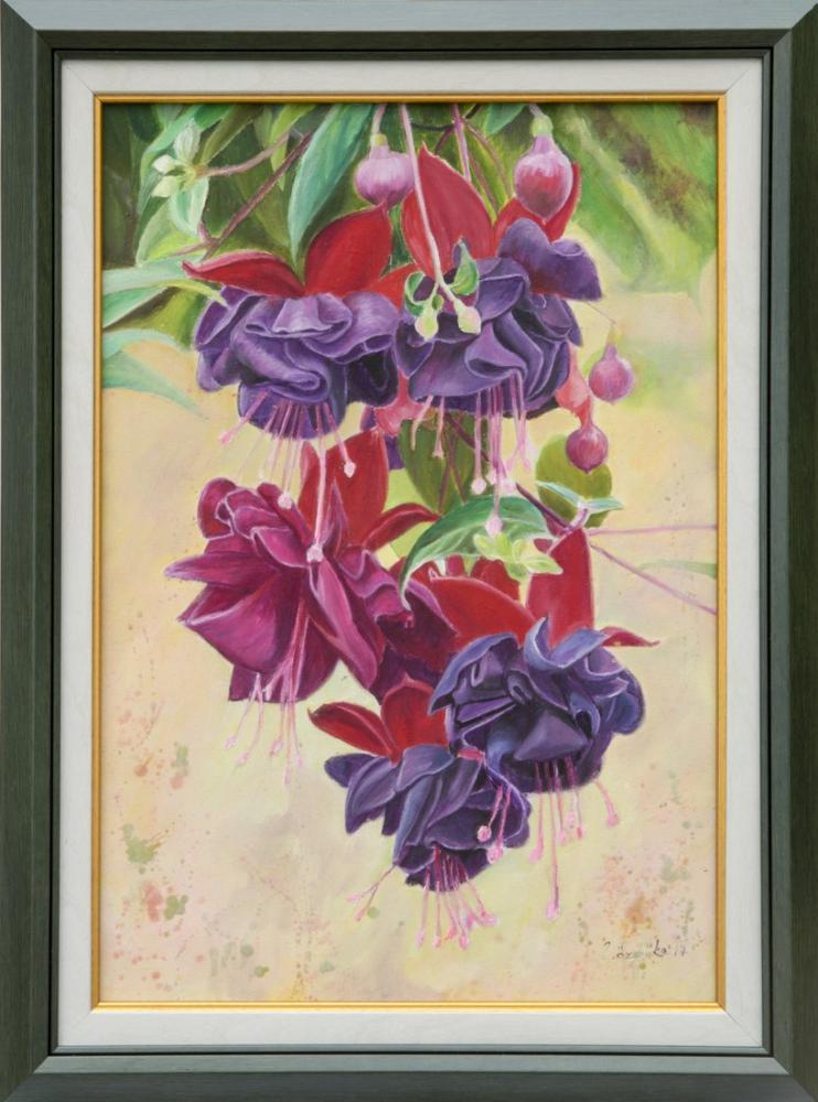 Cluster Fuchsia, Original Paintings, , kanvas tablo, canvas print sales