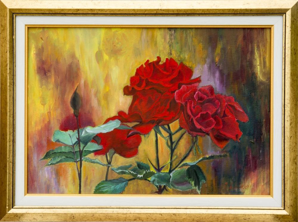 Sunset Roses, Original Paintings, , kanvas tablo, canvas print sales