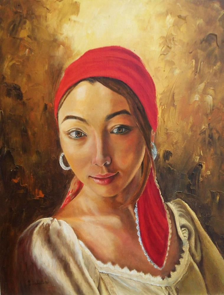 Kırmızı Şallı Kız, Reprodüksiyon Tablo, , kanvas tablo, canvas print sales