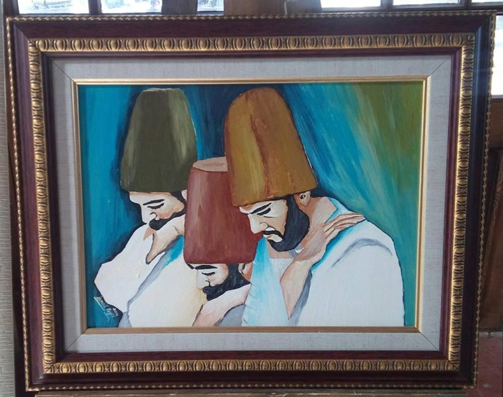 Semazenler, Original Paintings, İsmail Ergül, kanvas tablo, canvas print sales