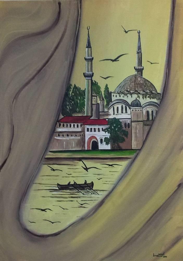 Marble Window, Original Paintings, İsmail Ergül, kanvas tablo, canvas print sales