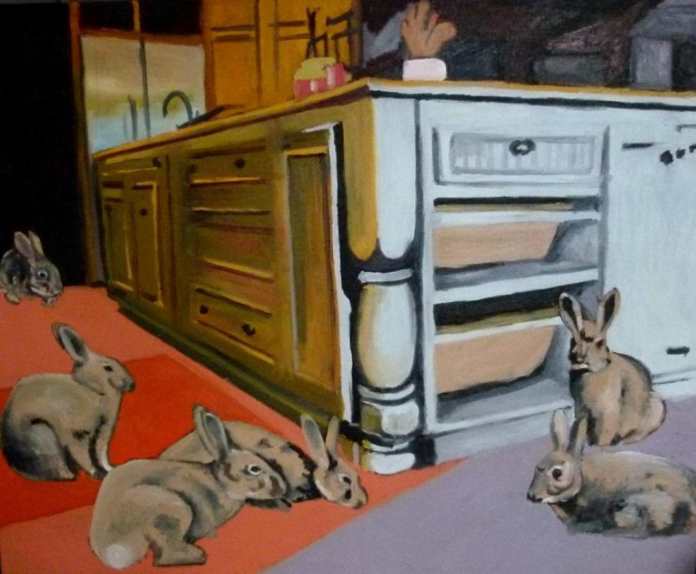 Tavşanlar, Orijinal Tablolar, Soso Kumsiashvili, kanvas tablo, canvas print sales