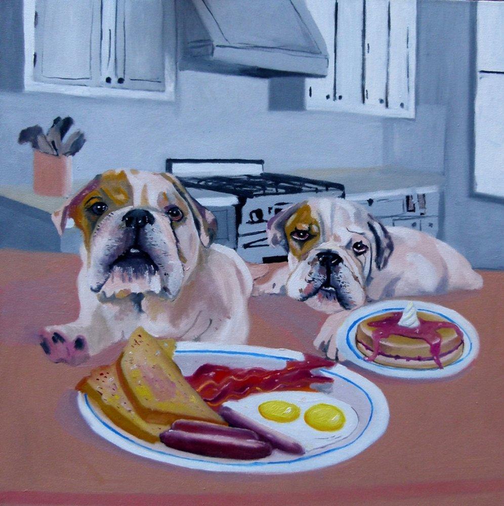 Breakfast, Original Paintings, Soso Kumsiashvili, kanvas tablo, canvas print sales