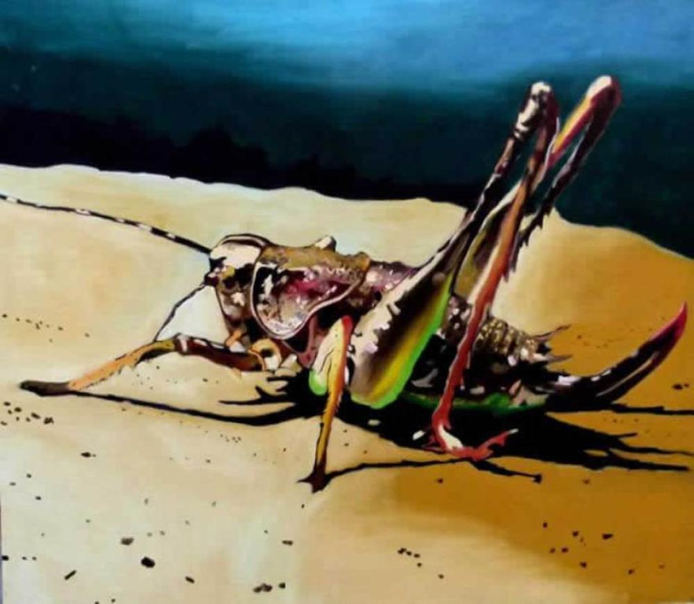 Çekirge - Yağlıboya tablo, Orijinal Tablolar, Soso Kumsiashvili, kanvas tablo, canvas print sales