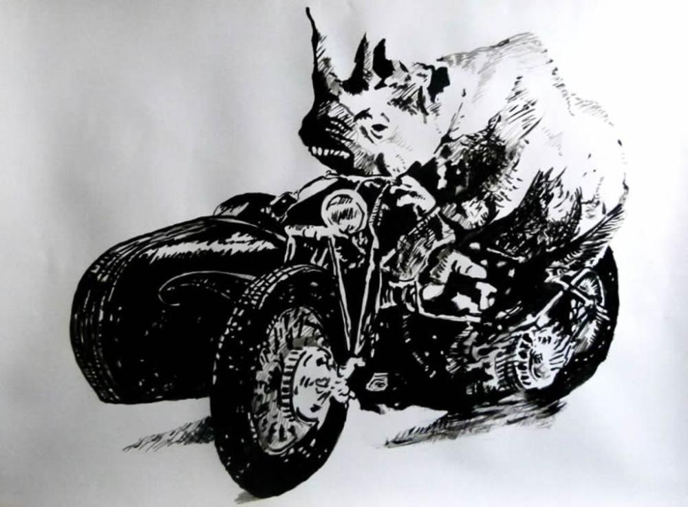 Rider, Original Paintings, Soso Kumsiashvili