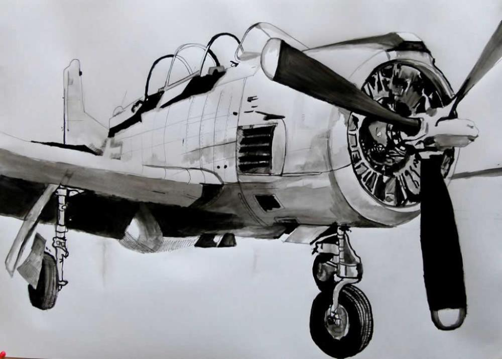 Uçak 5 - Akrilik tablo, Orijinal Tablolar, Soso Kumsiashvili, kanvas tablo, canvas print sales