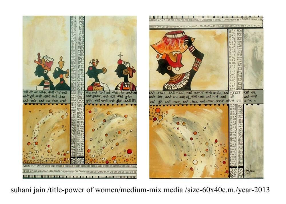 Power of Woman, Original Paintings, Suhani Jain, kanvas tablo, canvas print sales