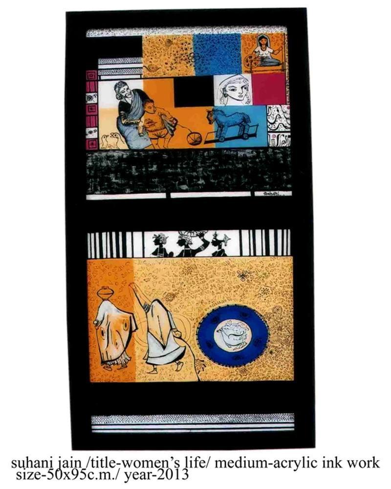 Woman Life, Original Paintings, Suhani Jain, kanvas tablo, canvas print sales