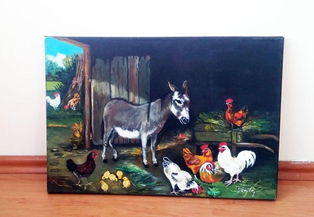 My friend Donkey, Original Paintings, , kanvas tablo, canvas print sales