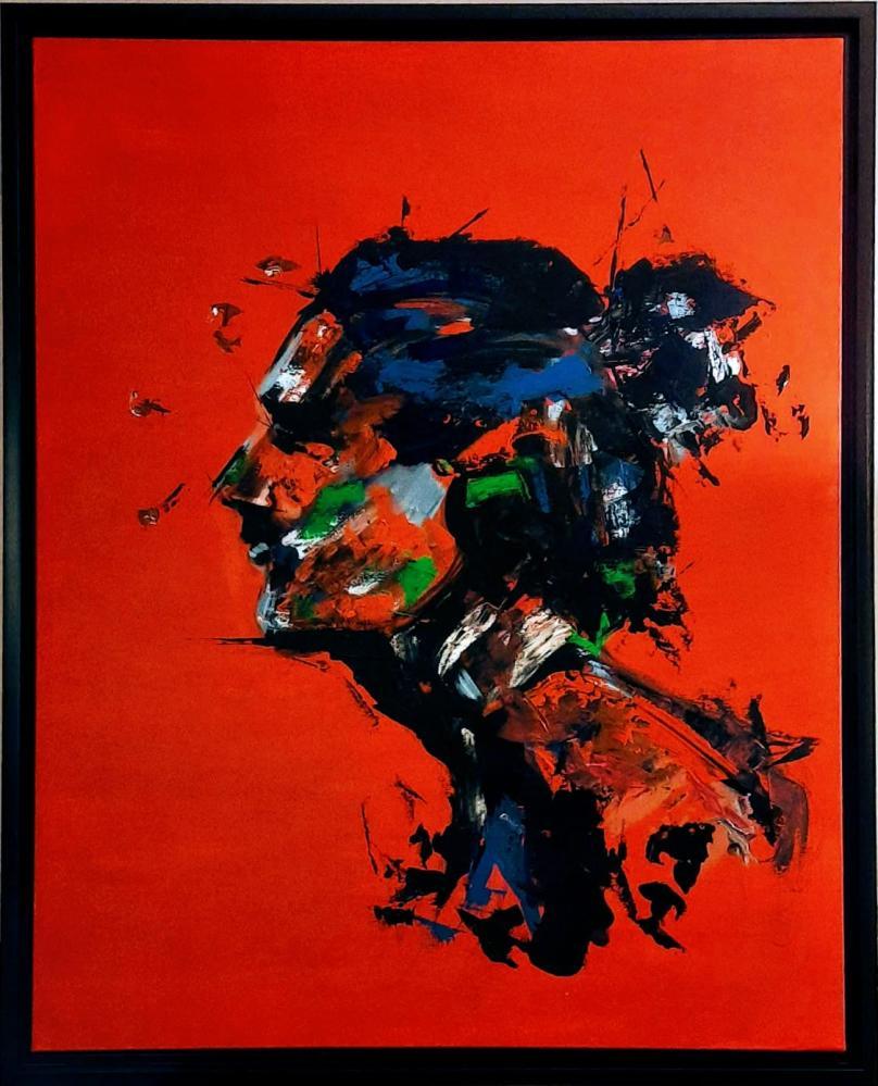 Abstract Portrait 1, Original Paintings, , kanvas tablo, canvas print sales