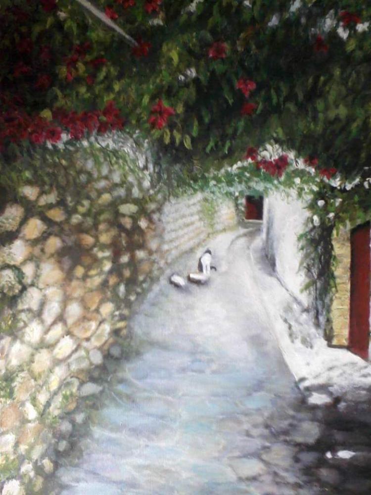 Neighborhood, Original Paintings, , kanvas tablo, canvas print sales