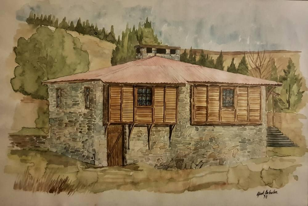 Wooden Plateau House, Original Paintings,  tablo kanvas canvas paintings