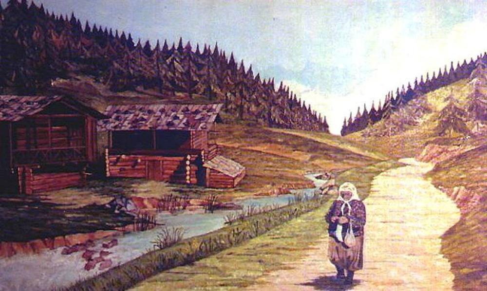 Mountain Villager, Original Paintings, , kanvas tablo, canvas print sales