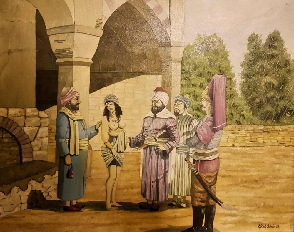 OTTOMAN SLAVE MARKET, Original Paintings,  tablo kanvas canvas paintings