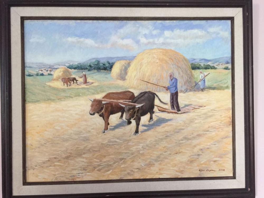 Batı Karadeniz Bölgesi nde Harman ( Düven ) Manzarası Tablosu, Orijinal Tablolar, , kanvas tablo, canvas print sales
