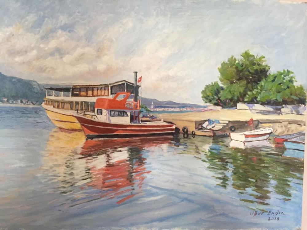 Cide Limanı, Orijinal Tablolar, , kanvas tablo, canvas print sales
