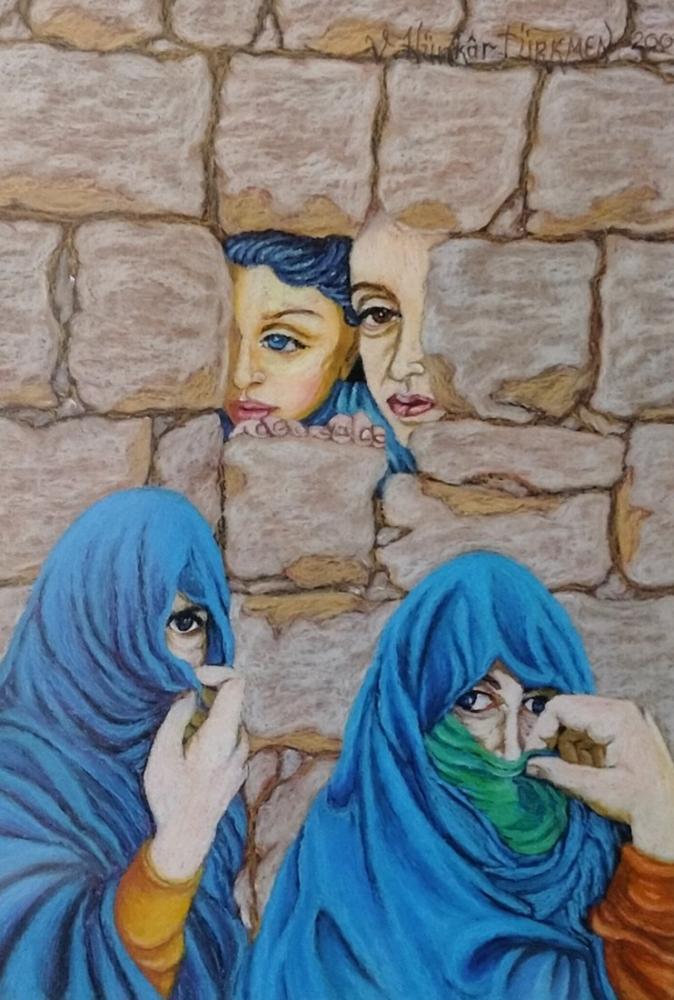 Glances Say Everything, Original Paintings, , kanvas tablo, canvas print sales