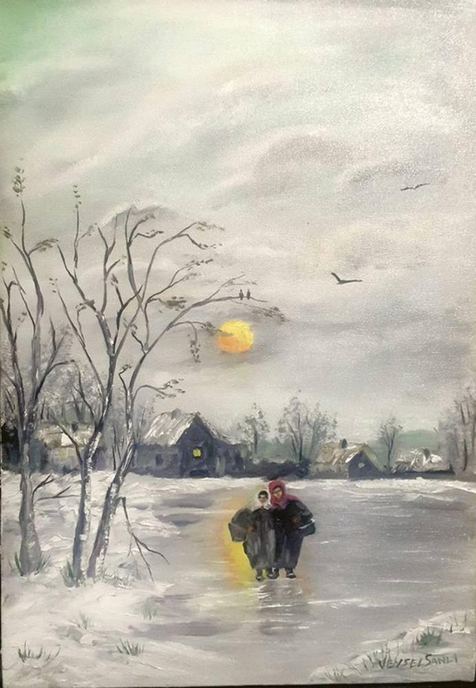 Kış Güneşi, Orijinal Tablolar, , kanvas tablo, canvas print sales