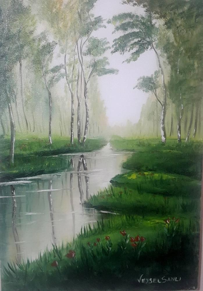 Sessiz Ağaçlar, Orijinal Tablolar, , kanvas tablo, canvas print sales