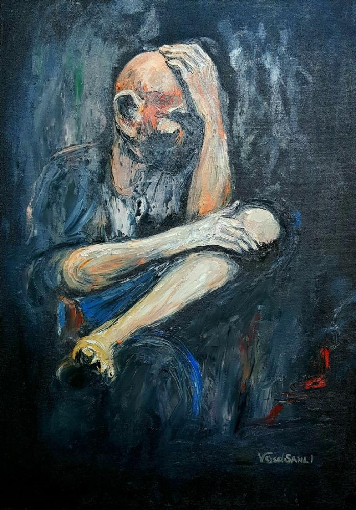 Thinking man, Original Paintings, , kanvas tablo, canvas print sales